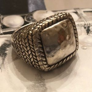 Silpada Sterling Silver Braided Square Ring R1646